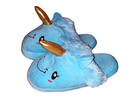Slipper Adult Ladies Unicorn Blue Womens Plush wI517wq