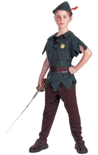 Peter Pan Costume - Child Costume Standard - Medium (Peter Pan Costume Age 8)