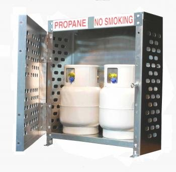 Aluminum Dual 20lb Propane Cylinder Cage ()