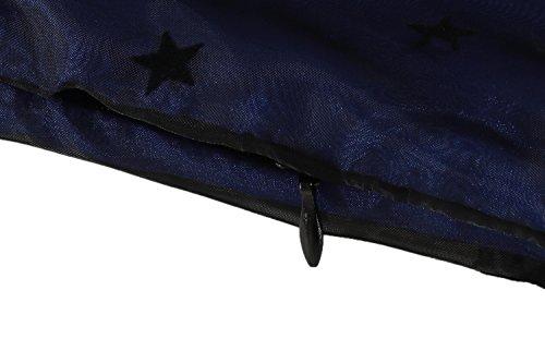 Elegante Fiesta Estilo Azul cooshional para de Malla Encaje Retro Mujer Vestido Cóctel Vintage c1cRZI6