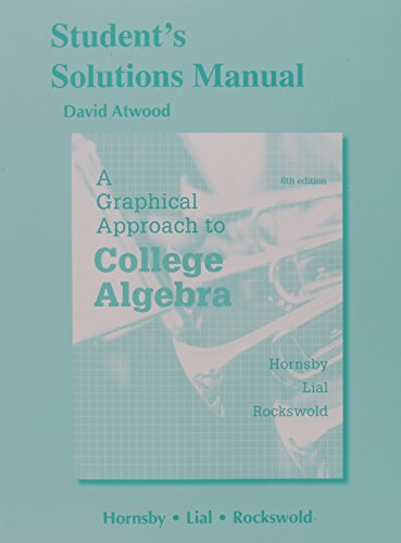 Graphical Appr.To Coll.Alg Stud.Sol.Man