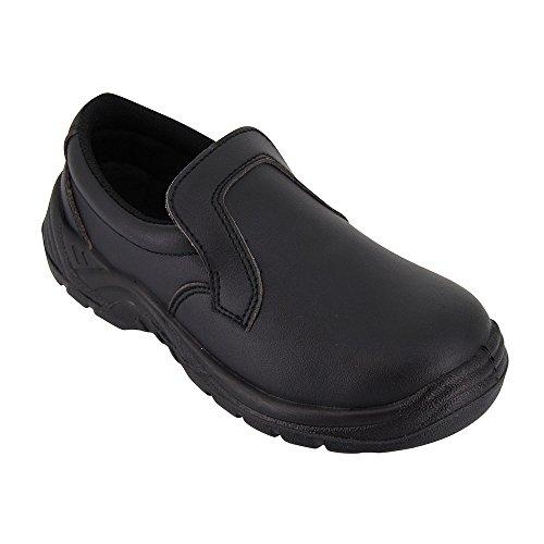 Zapatos para cocina, negro, de trabajo, uso agroalimentario, con funda protectora ISO20346, disponible en varias tallas disponibles