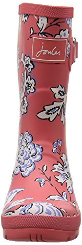 Joules Womens Molly Welly Rain Boot Rosso Indienne Floreale