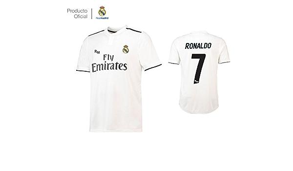 Camiseta 1ºEQUIPO Dorsal 7 Cristiano Ronaldo Real Madrid JR ...