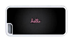 Hipster designer iPhone 5C cases Hello TPU White for Apple iPhone 5C