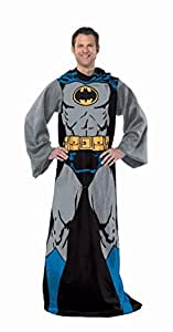"Northwest Warner Brothers DC Comic Batman,Batman in Black Adult Comfy Throw with Sleeves, 48"" x 71"""