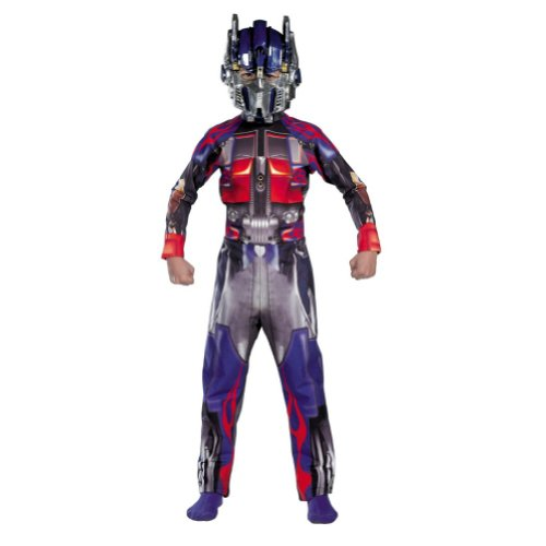 [Transformers Boys Optimus Prime Muscle Chest Costume & Mask] (Halloween Costumes 03)
