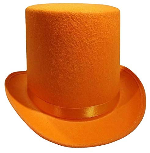 Dumb And Dumber Hat (Nicky Bigs Novelties Tall Deluxe Felt Top Hat, Orange, One)