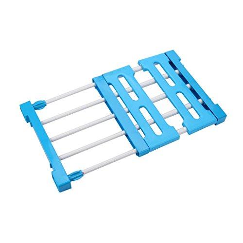 Storage Cabinet Large Fabric Wardrobe (Blue) - 5