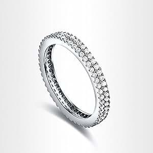 2015 de la joyería de la boda de la manera del anillo de dedo de la mujer muy clásico y elegante anillo de diamante es de talla O de doble
