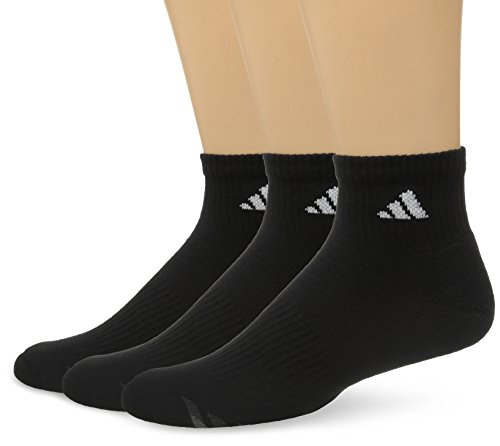 - adidas Men's Cushioned Quarter Socks (3-Pack), BLACK/WHITE/LIGHT ONIX/GRANITE, Large: fits shoe size 6-12
