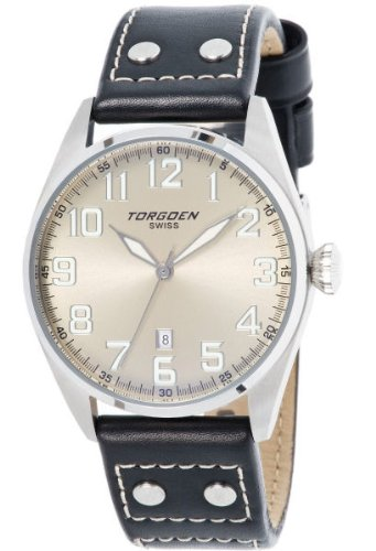Torgoen Swiss Men's T28102 T28 3-Hand Stainless-Steel Aviation Watch