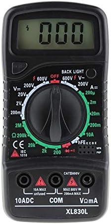 盛世汇众 MultímetroデジタルANENG XL830L、medidor ESR、probadoresデtransistoreseléctricosautomotrices DMM、medidorドピコ、medidorデcapacitancia (色 : Black)