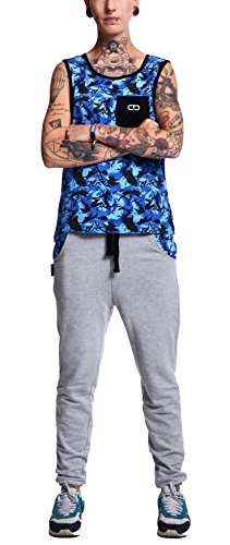 Dany Sweatpants Camos Plash Pantalones Magic Blue Pantalón Jogger Unisex Magic Grey CamoSplash