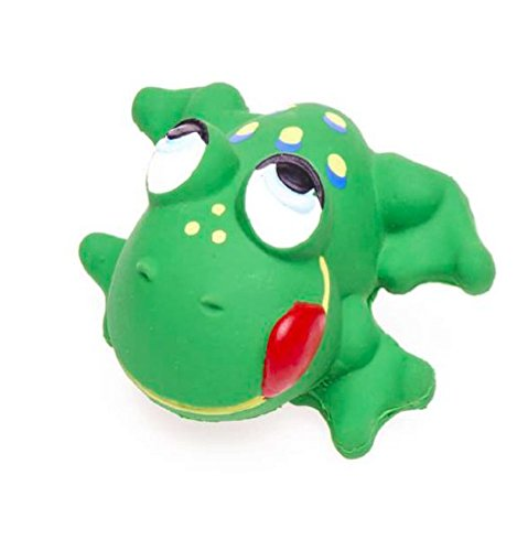 Small Frog for Small Dogs and Small Puppies, 100% Natural Rubber (Latex). Lead-Free & Chemical-Free. Complies to Same Safety Standards as Children's Toys. 3 inches.