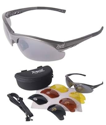 GAFAS DE SOL PARA PILOTOS 'Mile High Soarer' grises con cristales intercambiables, incluyendo opción para luz baja. Protección UV (UV400). Ideales para hombre y mujer