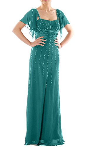 Bride the Women Dress Mother abito Long Turquoise party wedding MACloth formale of maniche CYXxwZZq
