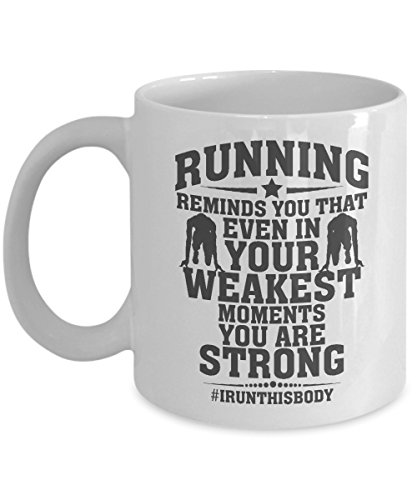 Running Reminds You Quote Coffee & Tea Gift Mug for a Long Distance Marathon Runner