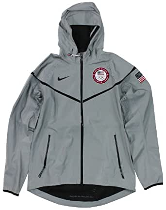 Nike USA Team Olympic 2012 Medal Stand 21st C. Reflective Jacket Men's Size L and Xl