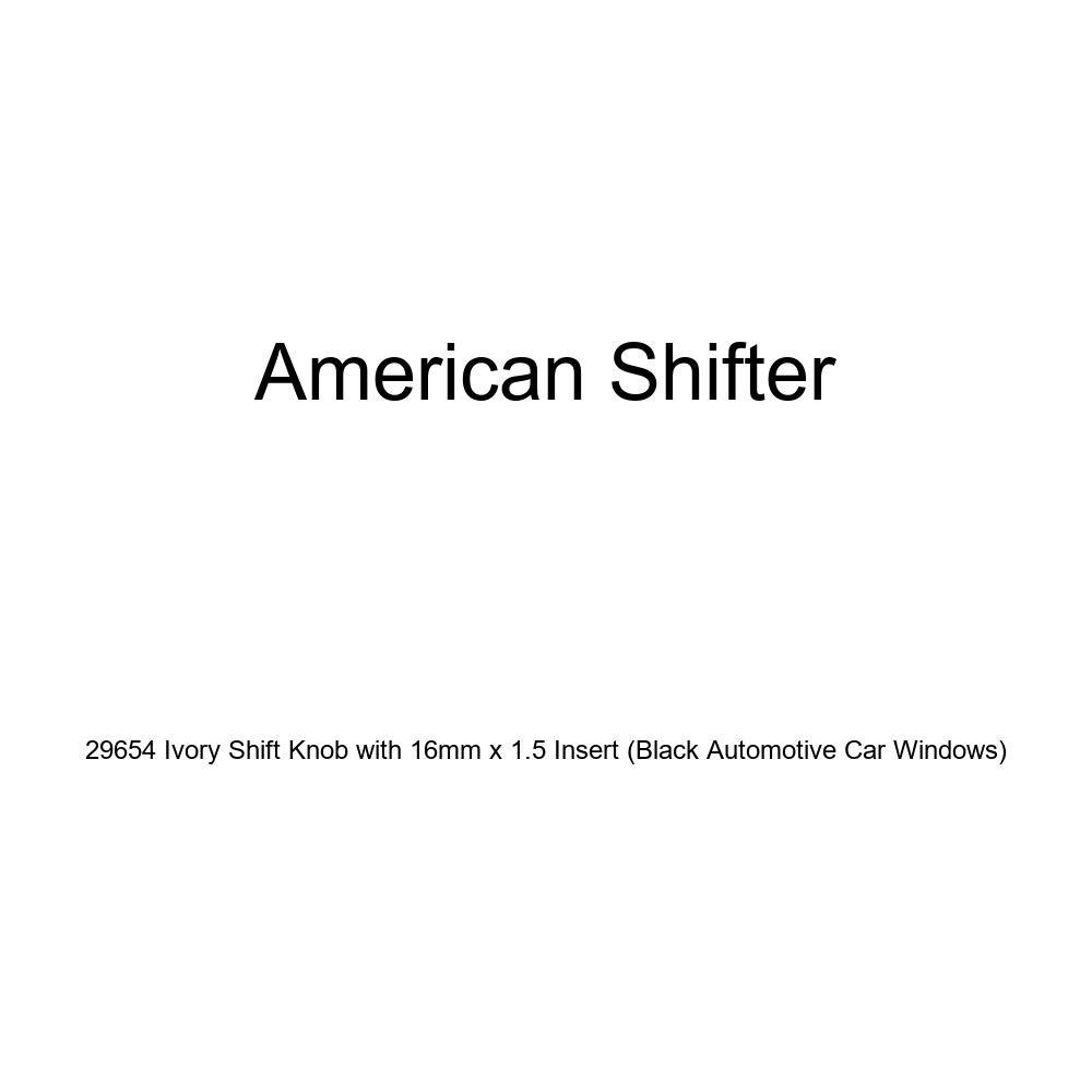 Black Automotive Car Windows American Shifter 29654 Ivory Shift Knob with 16mm x 1.5 Insert