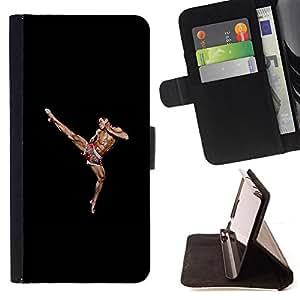 """For Sony Xperia M4 Aqua,S-type Músculos hombre que lucha marcial"""" - Dibujo PU billetera de cuero Funda Case Caso de la piel de la bolsa protectora"""