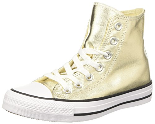 Converse Dames Chuck Taylor Alle Ster Hi Canvas Trainers Licht Goud