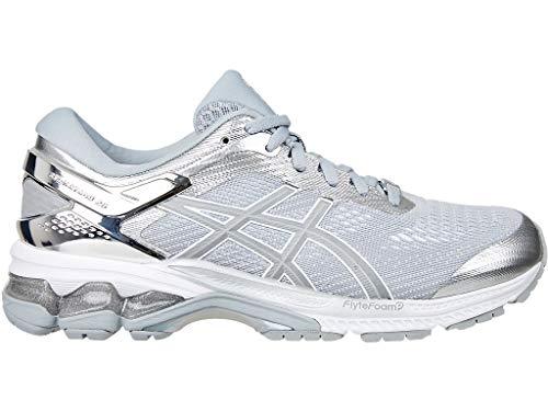 ASICS Women's Gel-Kayano 26 Platinum Running Shoes, 8M, Piedmont Grey/Silver
