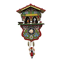 Alexander Taron Boy and Girl Weather House Cuckoo Clock