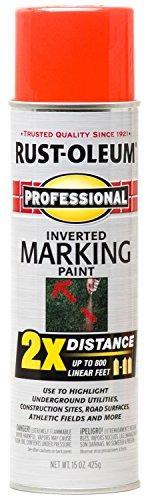 (Rust-Oleum 266590 Professional 2X Fluorescent Red Orange Marking Spray Paint, 15-Ounce - 6)