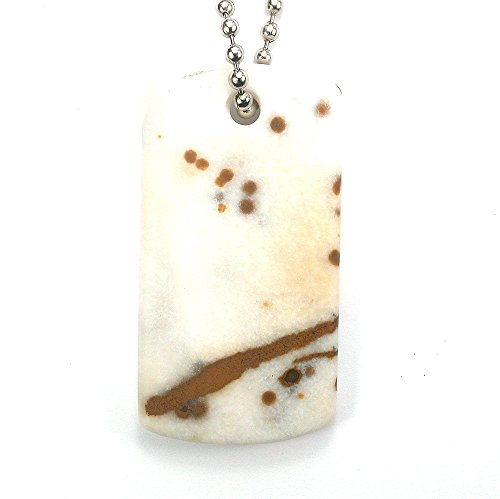 DVH Oregon Polka Dot Jasper Matte Dog Tag Focal Dangle 62x33x7mm (9505) (Dot Polka Tags)