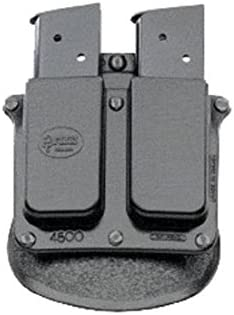 Fobus 4500 Holster Double Magazine Pouch, Paddle, Single Stack.45 Cal 9MM Black