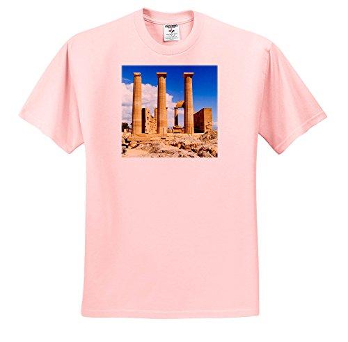 3dRose Danita Delimont - Greece - doric Temple Of Athena, Lindos, Rhodes. Greece. - T-Shirts - Light Pink Infant Lap-Shoulder Tee (24M) (Athena 24 Light)