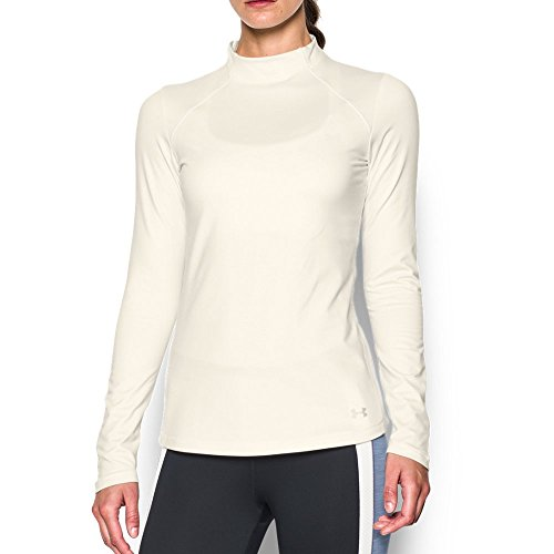 Under Armour Coldgear Mock - Under Armour Women's ColdGear Armour Mock, Ivory (130)/Metallic Silver, XX-Large