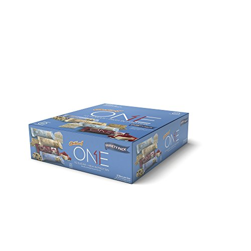 Oh Yeah! ONE Protein Bar Variety Pack, 12 count, Gluten-Free Protein Bars with High Protein (20g) and Low Sugar (1g), Guilt Free Snacking for Healthy Diets by ONE Brands