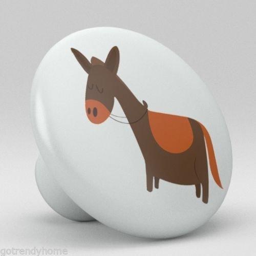 Cute Horse Ceramic Knobs Nursery Pulls Kitchen Drawer Dresser Cabinet 1072 by gotrendyhome