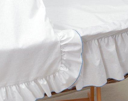 Amigos stubenwagen ausstattung xxl weiß mit blauer kante inkl