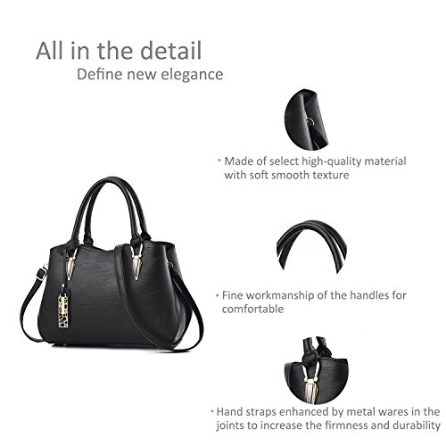 Women Portable Handbag Black Messenger Zonlin Shoulder Casual Bag Bags Ladies for BAwnzqFx1