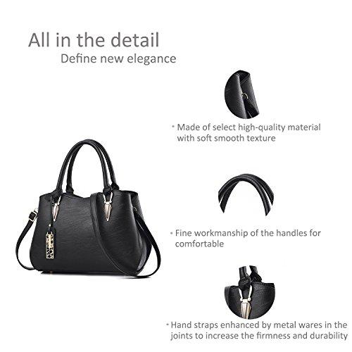 for Casual Bag Messenger Shoulder Bags Zonlin Women Ladies Black Handbag Portable Cq8Rq