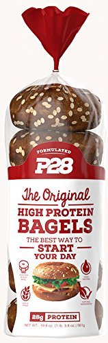 P28 High Protein Bagel, 100% Natural, 6 bagels