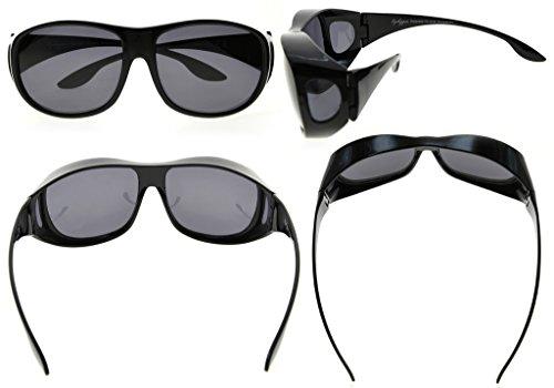 Fitover lentes estilo Eyekepper de para de Retro prescripción Negro gafas gafas grandes polarizado sol x1FxgUwXq