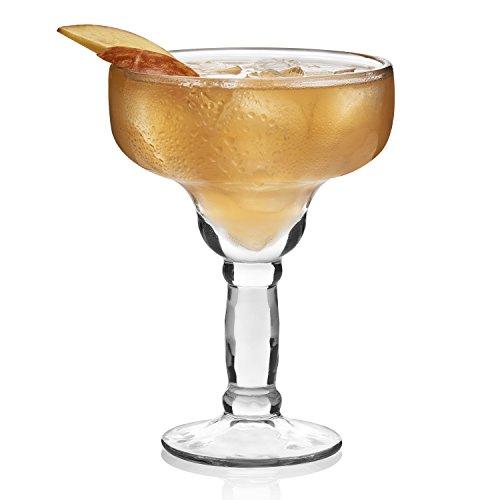 Libbey Yucatan 4-piece Margarita Glass Set (Crinkle Cup)