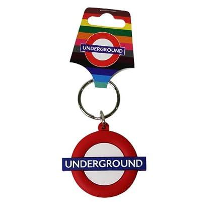 Transporte de Underground Llavero de goma Londres: Amazon ...