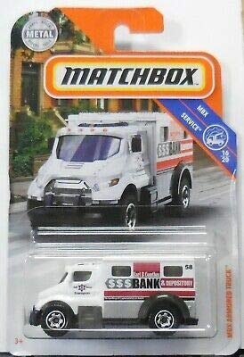 - Matchbox MBX Armored Truck (White) 85/100 MBX Service 16/20 Bank Money Armed Car Vehicle Die Cast 1:64 Scale