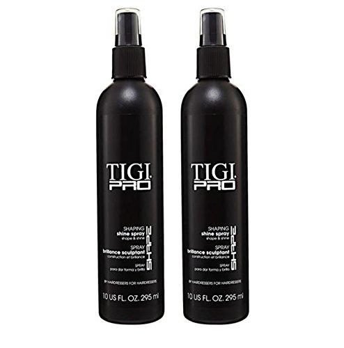 TIGI PRO Shaping Shine Spray High Gloss Finish Flexible Hold Hairsprays (2 (Direction Shaping Hair Spray)