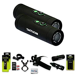 Tactacam Pro Pack Package Includes (1) 5.0 Bow & (1) 5.0 Wide Action Camera + (2) Mounting Accessories + (2) Sandisk 64gb SD Cards, Dual Battery Charger & (4) Batteries + Remote & Photo4less Cloth