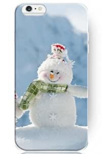 day case New Personalized Hard Happily Smile Snowman for iphone 4s) Case Christmas