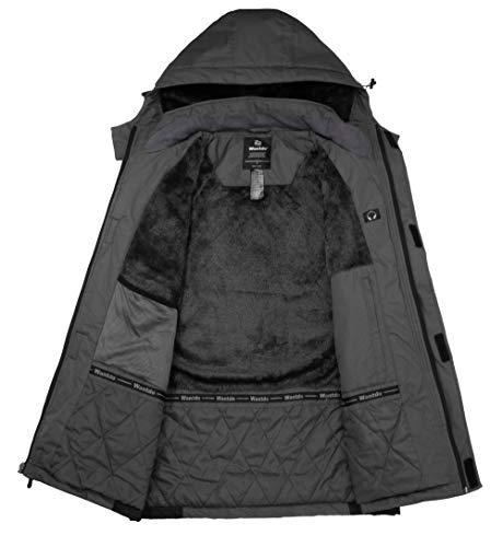 Wantdo Men's Waterproof Ski Jacket Mountain Parka Outdoors Winter Snow Coat