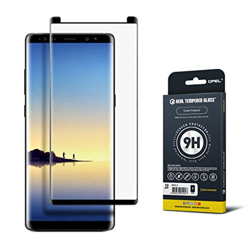 Price comparison product image Galaxy Note 8 Screen Protector [2017 Model], Case Friendly, GPEL RTGLab Tempered Glass, 100% Satisfaction Guarantee, Premium Japanese Asahi Glass