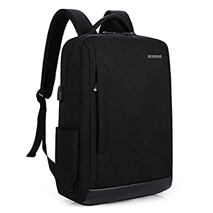 0f9f5fde6 Amazon.com: Slim Laptop Backpack with USB Charging Port Lightweight Business  Travel Backpacks College Bag Fits up to 15.6 inch: Computers & Accessories