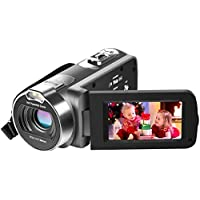 Besteker Full HD 1080p Micro SD/SDHC Camcorder with 16X Optical Zoom & 2.7
